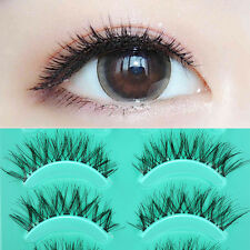 5 Pairs Hot Beauty Eye Lashes Handmade Messy Natural Cross False Eyelashes Gift