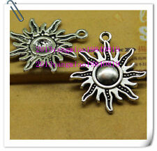 Free shipping 15pcs Alloy three colors of sunflower fashion charm pendant