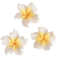 20pcs White&Yellow Colorful Flower Styles FIMO Polymer Clay Spacer Bead Decors D