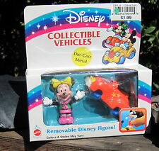 1992 DISNEY ARCO DIE-CAST COLLECTABLE VEHICLES Removable Minnie Mouse W/Bug MIB