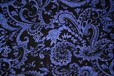 Foil Blue Black Print #236 Nylon Lycra Spandex 4 Way Stretch Swim Active BTY