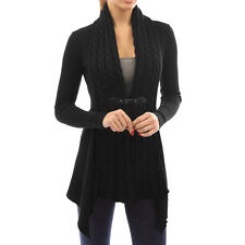 Women Long Sleeve Knitted Cardigan Loose Sweater Long Jacket Coat Outwear Tops