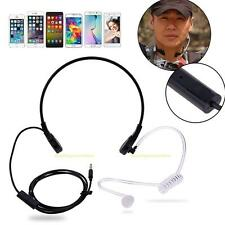 1 Pin 3.5mm Throat MIC Headset Covert Air Tube Earpiece for iPhone Android Phone