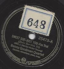 Benny Goodman Quartet : Sweet Sue - Just You + My Melancholy Baby