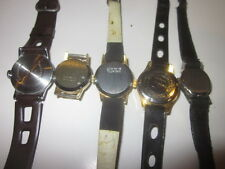 5 swiss movment wrist watches unknown brands  4 parts / restoration