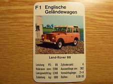 Auto Quartett Einzelkarte Land Rover 88 rot Geländewagen OffRoad