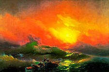 The Ninth Wave A1 by Ivan Aivazovsky High Quality Canvas Print