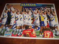 ONZE MONDIAL MAGAZINE  OCTOBER 1994  POSTER SWEDEN (THIRD PLACE WORLD CUP 1994)
