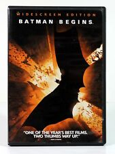BATMAN BEGINS ( DVD, 2005, Widescreen) Movie Christian Bale Michael Caine