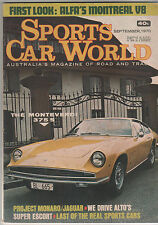 Sports Car World 1970 Sep Valiant Pacer Monteverdi 375 Riley 9 Alfa Romeo Montre