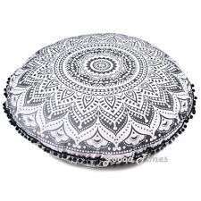 Black Ombre Decorative Floor Pillow Cushion Cover Mandala- 32""