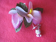 SANRIO HELLO KITTY HAIR CLIP ORCHID VINTAGE COLLECTIBLE 1976, 2004 NEW