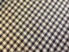 coupon de tissu poly coton  carreaux vichy bleu marine: 8 mm: 3.00 m ; Ref camp