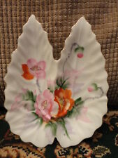 Rossetti Hand Painted Porcelain Divided Dish Nut Candy Soap Vintage
