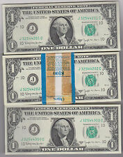 "1963B ""JC"" Kansas City $1 BARR PACK Fresh BEP Strap $100FV 100 Consecutive Notes"
