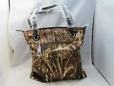New Mossy Oak Realtree Camo Tote Handbag With Belted Black Straps