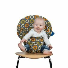 Totseat portable travel fabric high chair/booster seat for babies - Orange Zest
