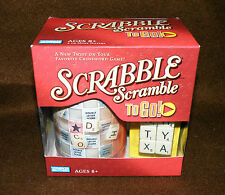 SCRABBLE SCRAMBLE TO GO GAME  GREAT TRAVELING GAME NEW IN BOX