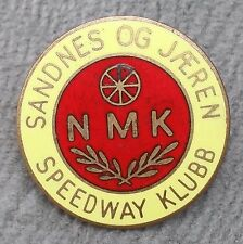 Enamel Speedway Klubb NMK Pin Badge Sweden Sandnes Og Jaeren Supporter