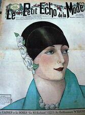 VTG 1920s PARIS FASHION & SEWING PATTERN MAGAZINE LE PETIT ECHO de la MODE 1927