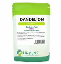 Lindens Dandelion 250mg Whole Root Herbal Capsules TRIPLE PACK x 180 Natural