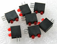 10 pcs -Dialight 553-0211, LED, PCB, 3MM, BI, RED, RED, PN  - D1