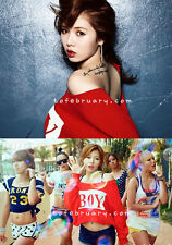 HYUNA 'Bubble Pop!' BOY Oversize Loose Zipper Back Crop Crew Sweatshirt