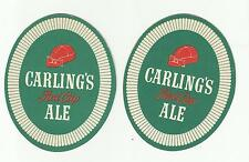 Pair of 1950's Carling Red Cap Ale Coaster By Carling of London ON 4""