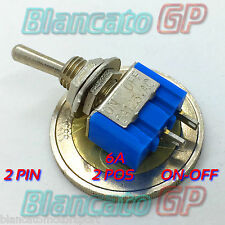 INTERRUTTORE a LEVETTA MINI ON-OFF 2 Posizioni 2 PIN leva toggle switch SPST car