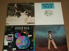 GRAHAM NASH lot 4x LP earth and sky INNOCENT EYES songs for beginners SOLO PROMO