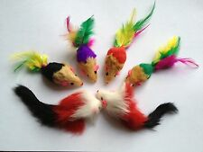 Cat Toy 20 Rattle Real Long & Short Furry Mice+++ 1 Pack Balls/Catnip/Brand new