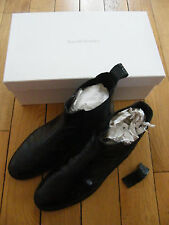 BEAUTIFUL RUSSELL & BROMLEY CHELSEA BOOTS BLACK LEATHER SIZE 39.5 6.5 MOC CROC