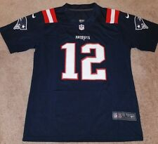 Nike men's New England Patriots #12 Brady 2016 blue rush jersey.