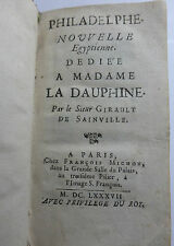PHILADELPHE NOUVELLE EGYPTIENNE GIRAULT DE SAINVILLE 1687 Egypte Racine Bajazet