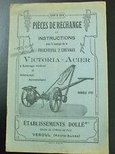 catalogue  pieces rechanges faucheuse 2 chevaux victoria acier 1921 dollé vesoul