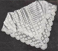 Crochet Pattern -Baby Vintage 3ply shawl pattern- measures 33 x 35 inches