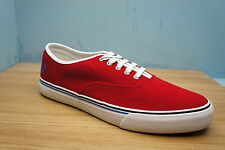 Fred Perry Mens Clarence Pique Shoes Red Trainers Plimsolls Shoes Size 7 UK BNWB