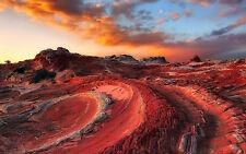 Framed Print - Barren Red Rock Australian Outback (Picture Poster Landscape Art)