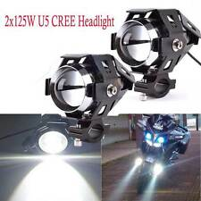2 x CREE Motorbike Light U5 LED 125W Motorcycle Driving Headlight Spot Light GOG