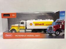 PETERBILT MODEL 367 w/ SHELL TANKER TRUCK,COLLECTIBLE, DIECAST 1:32,JOY CITY TOY