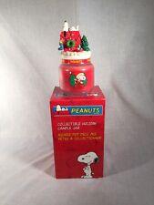 Vintage - Peanuts - Snoopy Christmas Candle Jar - NIB