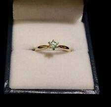 New & Unworn 9k Paraiba Tourmaline Gold Ring – Size J – Stunning