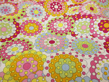 Pink Large Carnival Flowers 100% Cotton Poplin Fabric.