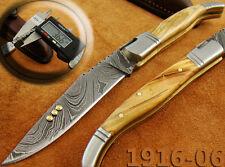 Damast-Taschenmesser Damast Messer Olive Wood Taschenmesser Folding Knife 1916-6