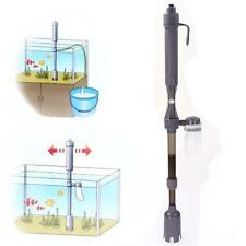 Hot Aquarium Battery Syphon Auto Vacuum Gravel Fish Tank Water Filter Cleaner BA