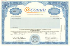@comm Call Reporting systems and cloud-based services stock certificate share