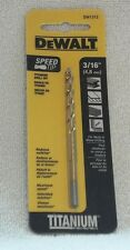 "DEWALT DW 1306 3/32"" TITANIUM SPEED TIP STEEL DRILL BIT"