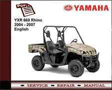 Yamaha YXR 660 Rhino 2004 - 2007 Service Repair Workshop Manual