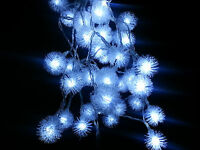 White Dandelion Battery Operated 40LED Christmas Wedding String Fairy Lights 4M