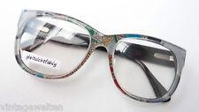 Brille Kunststoff Fassung XL Form auffallend bunt mit Seide unisex DS Design M